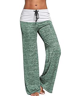 billige Løbetøj-Dame Yoga bukser - Blå, Lilla, Bourgogne Sport Bukser Yoga, Træning & Fitness, Træningscenter Letvægt, Hurtig Tørre, Høj Elasticitet