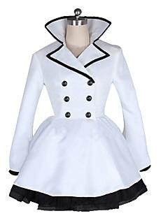 """billige Anime Kostymer-Inspirert av RWBY Weiss Schnee Anime  """"Cosplay-kostymer"""" Cosplay Klær Annen Langermet Frakk / Skjørte / Belte / bånd Til Herre / Dame Halloween-kostymer"""