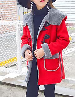 お買い得  女児ジャケット&コート-女の子 ソリッド コットン ダウン&コットンキルティング 長袖 ピンク フクシャ ワイン アーミーグリーン