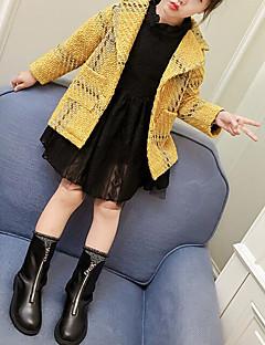 tanie Odzież dla dziewczynek-Kurtka / płaszcz Poliwęglan Bawełna Dla dziewczynek Pled Zima Jesień Długi rękaw Yellow