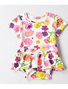 billige Babytøj-Baby Pige Ensfarvet Kort Ærme En del