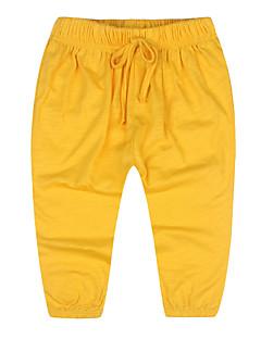 billige Drengebukser-Ensfarvet Pigens Daglig Polyester Sommer Kjole Sødt Grøn Orange Navyblå Gul Vin