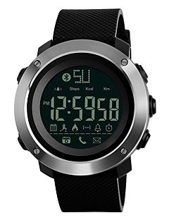 billige Digitalure-SKMEI Herre Digital Sportsur Japansk Bluetooth Kronograf Vandafvisende Fjernbetjening Stopur PU Bånd Afslappet Mode Sort Grøn Gråt