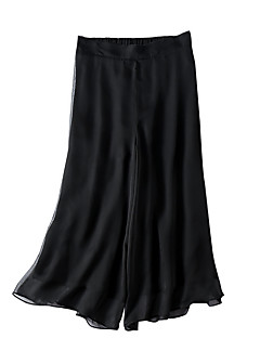 お買い得  ワイドレッグ-女性用 ベーシック ルーズ ワイドレッグ パンツ ソリッド