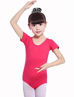 billige Ballettantrekk-Ballett Trikoter Jente Trening Ytelse Bomull Sateng Sløyfe Kortermet Naturlig Trikot / Heldraktskostymer