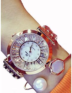 billige Armbåndsure-Dame Armbåndsur Japansk Kronograf / Stor urskive Rustfrit stål Bånd Glitrende Sølv / Guld / Rose Guld / Sony 377