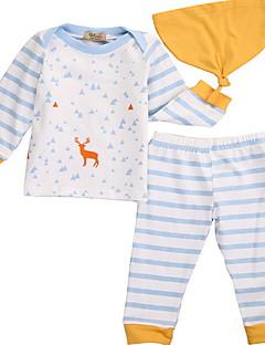 billige Sett med babyklær-Baby Unisex Prikker Langærmet Tøjsæt