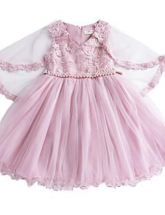 tanie Odzież dla dziewczynek-Sukienka Poliester Dziewczyny Codzienny Jendolity kolor Lato Bez rękawów Urocza White Jasnoniebieski