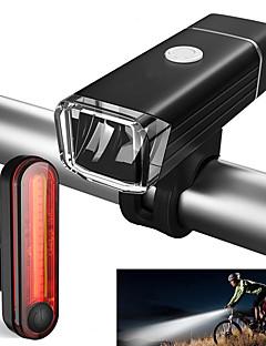 cheap Cycling-Front Bike Light / Rear Bike Light / Rechargeable Bike Light Set LED Bike Light Cycling Waterproof, Portable Li-ion 500 lm Cycling / Bike