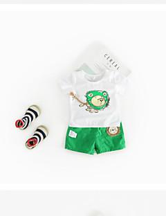 billige Sett med babyklær-Baby Unisex Ensfarvet Kortærmet Tøjsæt