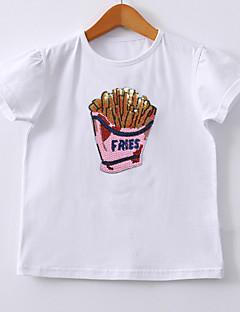 billige Babyoverdele-Baby Pige Geometrisk Kortærmet T-shirt