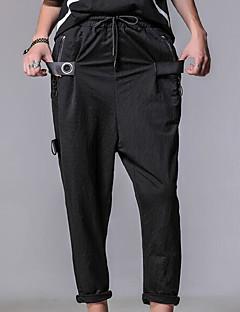 billige Herrebukser og -shorts-Herre Vintage Harem Bukser Ensfarget