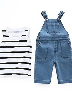 billige Sett med babyklær-Baby Pige Stribet Uden ærmer Tøjsæt