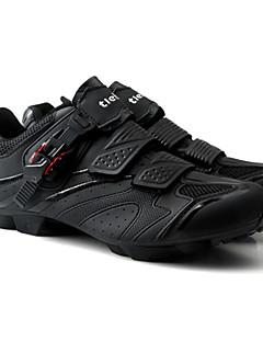 billiga Cykling-Tiebao® Herr MTB-skor Nylon och Karbonfiber Cykling / Cykel Anti-halk, Bärbar, Mateial som andas Andningsbart Nät Svart