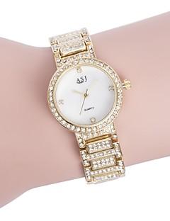 billige Armbåndsure-ASJ Dame Quartz Armbåndsur Japansk Imiteret Diamant Afslappet Ur Rustfrit stål Bånd Luksus Elegant Sølv Guld