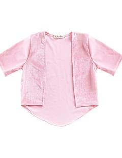tanie Odzież dla dziewczynek-Dla dziewczynek Codzienny Jendolity kolor Kurtka / płaszcz, Poliester Wiosna Rękaw 1/2 Urocza Blushing Pink