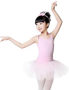 tanie Stroje baletowe-Balet Suknie Dla dziewczynek Szkolenie Wydajność Bawełna Bandażowe Bez rękawów Naturalny Ubierać