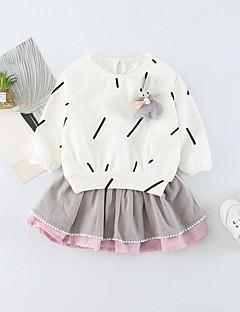 billige Sett med babyklær-baby piger ferie solid farvet print tøj sæt, bomuld forår sommer søde aktive lange ærmer lyseblå rødme pink hvid 73 80