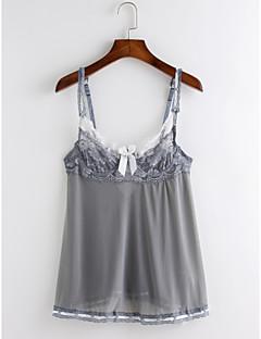 お買い得  ファッションランジェリー-プラスサイズ ユニフォーム&チャイナドレス ナイトウエア ベルベット 女性用 パッチワーク