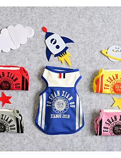 billiga Hundkläder-Hund Katt T-shirt Hundkläder Brittisk Citat och ordspråk Gul Röd Blå Terylen Kostym För husdjur Herr Sport och utomhus Fritid
