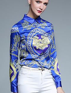 billige Skjorte-Dame - Geometrisk Trykt mønster Aktiv Gade Skjorte