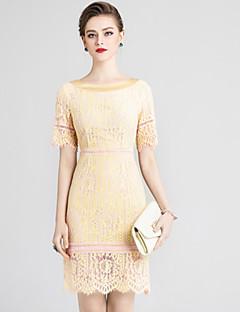 Χαμηλού Κόστους MORE BRANDS-Γυναικεία Βασικό Κινεζικό στυλ Εφαρμοστό Φόρεμα - Μονόχρωμο Φλοράλ Πάνω από το Γόνατο