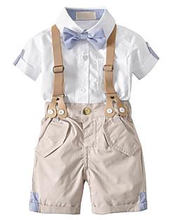 billige Tøjsæt til drenge-Baby Drenge Farveblok Kortærmet Tøjsæt