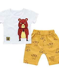 billige Tøjsæt til drenge-Baby Drenge Trykt mønster Kortærmet Tøjsæt