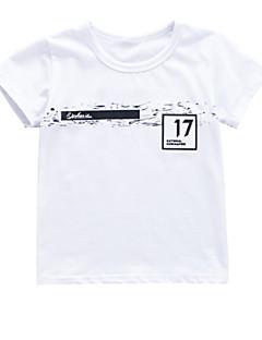 billige Overdele til drenge-Baby Drenge Geometrisk Kortærmet T-shirt