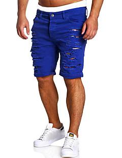 billige Herrebukser og -shorts-Herre Grunnleggende Jeans / Shorts Bukser Ensfarget