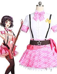 """billige Anime Kostymer-Inspirert av BanG Dream Cosplay Anime  """"Cosplay-kostymer"""" Cosplay Klær Annen Kortermet Halsklut / Topp / Skjørte Til Unisex"""