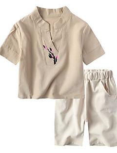 billige Tøjsæt til drenge-Børn Drenge Blomstret Kortærmet Tøjsæt