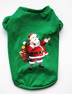 billiga Hundkläder-Hund / Katt / Husdjur Väst Hundkläder Jul / Amerikanska / USA / Tecknat Grön Cotton Kostym För husdjur Herr Fest / Semester