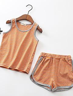 billige Tøjsæt til drenge-Børn Drenge Stribet Uden ærmer Tøjsæt
