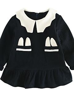 billige Babykjoler-Baby Pige Geometrisk / Farveblok Langærmet Kjole