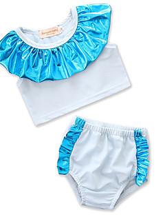 billige Badetøj til piger-Baby Pige Farveblok Uden ærmer Badetøj