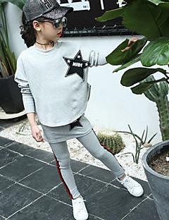 billige Tøjsæt til piger-Børn Pige Trykt mønster Langærmet Tøjsæt