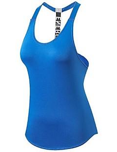 billige Løbetøj-Dame Løbesinglet Uden ærmer Letvægt, Hurtig Tørre, Strækkende Tank Tops for Pilates / Træning & Fitness / Udendørs Træning Polyester,