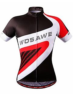 billiga Cykling-WOSAWE Kortärmad Cykeltröja - Röd Cykel Tröja, Svettavvisande