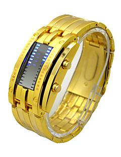 billige Digitalure-Herre Sportsur Kinesisk Kronograf / Vandafvisende / Kreativ Rustfrit stål Bånd Luksus / Vintage Sort / Sølv / Guld