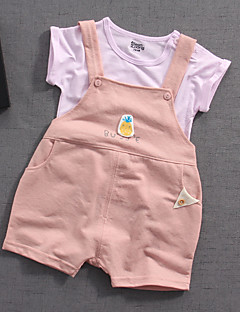 billige Sett med babyklær-Baby Unisex Trykt mønster Kortærmet Tøjsæt