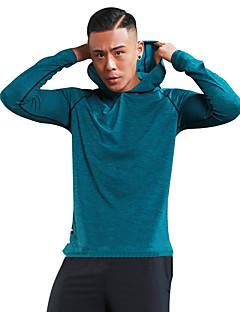 billiga Träning-, jogging- och yogakläder-Herr T-shirt för jogging - Röd, Mörkgrå, Mörkgrön sporter Mode Huvtröja / Skjorta / Collegetröja Långärmad Sportkläder Lättvikt, Torkar