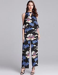 Χαμηλού Κόστους Designed For Elegance-Γυναικεία Κομψό στυλ street / Μπόχο Φόρμες - Φλοράλ, Στάμπα