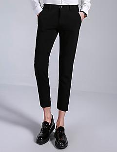 billige Herrebukser og -shorts-Herre Forretning / Grunnleggende Dressbukser / Chinos Bukser Ensfarget