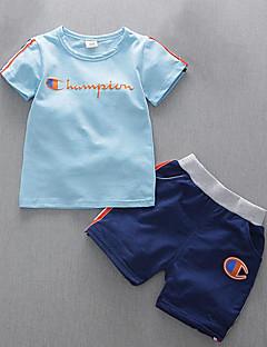 billige Tøjsæt til drenge-Baby Drenge Stribet Trykt mønster Kortærmet Tøjsæt