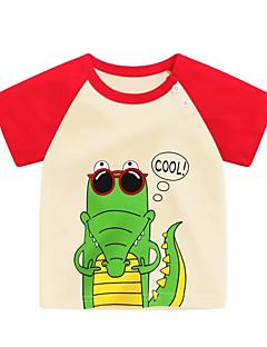 billige Babyoverdele-Baby Unisex Trykt mønster / Patchwork Kortærmet T-shirt