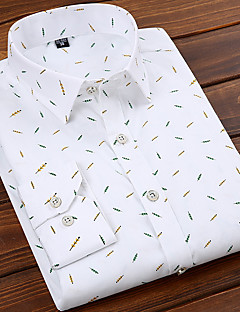 billige Herremote og klær-Skjorte Herre - Stripet / Geometrisk Grunnleggende