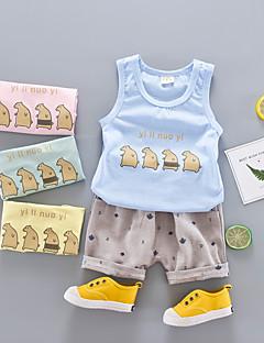 billige Tøjsæt til drenge-Børn Drenge Ensfarvet / Prikker Uden ærmer Tøjsæt