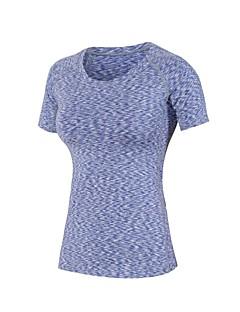 billige Løbetøj-Dame Løbe-T-shirt Kortærmet Letvægt, Hurtig Tørre, Strækkende T-Shirt for Pilates / Træning & Fitness / Udendørs Træning Polyester,