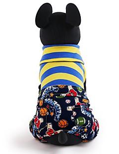 billiga Hundkläder-Hund / Katt / Husdjur T-shirt Hundkläder Lappverk / Bokstav & Nummer / Toile Rand Cotton Kostym För husdjur Dam Abstrakt / Trendig